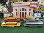 Lionel Postwar 6111 Set Of 4 Log Cars Good To Very Good Condition