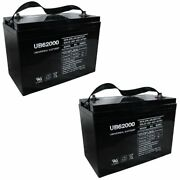 New 2pk Ub62000 6v 200ah Group 27 Replacement Battery For Full River Hgl180-6