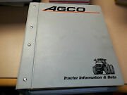 Agco Tractor Information And Data Manuals. Product Information