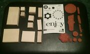 Stampin Up Enjoy Every Moment Set 11 Wooden Rubber Stamps Unmounted New Unused