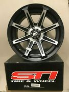 Sti Hd Black/machined 15x7 4/110 5+2 Sold As Pair
