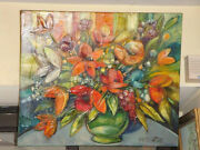 Beautiful French Floral Bouquet Painting Betty Wittwe