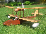 Model Airplane Plans Ff-rc 1912 Leveque Flying Boat Scale 33ws R/n Models