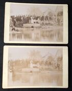 Two Circa 1890 African American Baptism Cabinet Card Photographs