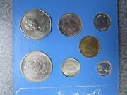 Seychelles Coins 1972 7 Coins 1 Cent To 5 Rupees In Plastic Case