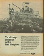 1971 Large Print Ad Of Ford 9000 Farm Tractor 132 Plow