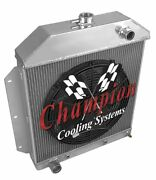 4 Row Dr Champion Radiator W/ 16 Fan For 1949 - 1953 Ford Cars Ford V8 Engine