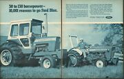 1971 Large 2pg Print Ad Of Ford 9000 And 2000 Farm Tractor