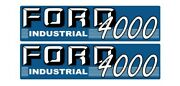 Ford 4000 Industrial Tractor Hood Decal Kit Graphics Stickers Emblem Set Sides