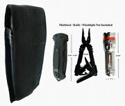 Black Pouch For Gerber Mp800 Mp600 Multitool Folding Knife Or Flashlight..nice