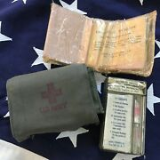 Authentic Ww2 Usn Aviator Medical Kit Unopened Military Navy Antique Vintage