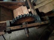 Antique Farm Equipment Wooden Grain Mill Seed Separator Cleaner Hand Crank Rare