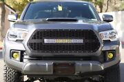 Steel Aftermarket Grill 120w Led Light Bar Grille Fits 2016-2017 Toyota Tacoma