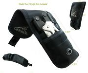 2 Pockets Gerber Knife And Mutiltool Pouch/sheath Fit For Mp800 Mp60006 Auto Nr