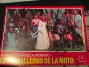 George Romero-knightriders Lobby Card Signed By Patricia Tallman Ken Foree