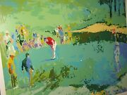 Leroy Neiman Golf Landscape Golf Loverand039s On The Green Hand Signed/ Serigraph
