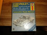 Used Haynes Service Manual Chevy And Gmc S10 S15 Pickups