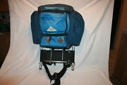 Vtg Kelty Aluminum Frame Camping Backpack Small Leather Tabs Usa Ca Instructions