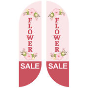 Flower Sale Feather Flag Sign Kit Banner Advertising Home Garden- No China