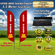 18and039 Ft Tall Outdoor Feather Flag Sign Large Swooper Advertising Banner Sign