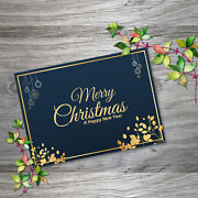 Greeting Cards Merry Christmas Happy New Year Wish Gift Postcards With Envelope
