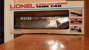 1994 Lionel Water Tank Flat Car Lionelville Fire Rescue 6-16390, 0/027-excell