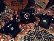 Three Antique Phones, One Elektrisk,and Two Bell Western Electric