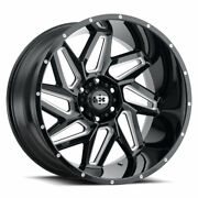 Vision 361 Spyder 20x9 8x165.1 Offset 12 Gloss Black Milled Spokes Qty Of 4