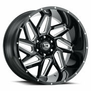 Vision 361 Spyder 20x9 5x139.7 Offset 12 Gloss Black Milled Spokes Qty Of 4
