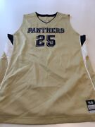 Game Worn Used Pittsburgh Panthers Pitt Basketball Jersey Size 56 25 Miller