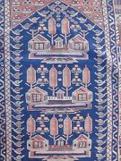 Reduced Rare Caucasian Pictorial Hand-knotted Prayer Rug C.1890s 6and039x3and039
