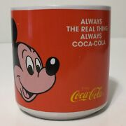 Vintage 90s Always Coca Cola Mickey Mouse Goofy Coffee Mug The Real Thing Disney