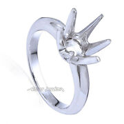 Six-prong Knife Edge Ring Mounting 18k White Gold Yellow, Or Rose Gold In 18k.