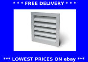 External Weather Louvre Square Vent Cover Wall Grille Ducting Aluminium And Mesh