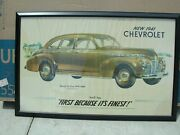 Chevy Gm Dealer Poster 1941 1939 40 1942 1948 Gm Super Ray Guide Passing Lamp