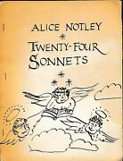 165 Meeting House Lane Twenty-four Sonnets By Alice Notley 1971 Signed