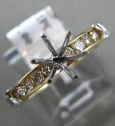 Estate .48ct Diamond 14kt Two Tone Gold 3d Six Prong Semi Mount Engagement Ring