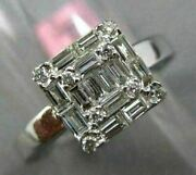 Wide .85ct Diamond 18kt White Gold Eternity Cluster Circle Of Life Ring Pendant