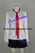 D.gray-man Road Kamelot Cosplay Costume With Red Tie And Long Stockings