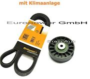 V-ribbed Belts + Tensioner Pulley Mercedes W202/w124/w210/s124 /s210