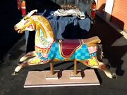 Antique Anderson Carousel Horse Hand Carved From England Late 1800s Early 1900