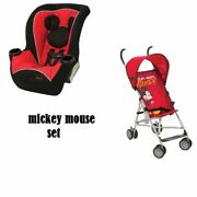 New Mickey Mouse Infant Toddler Baby Convertible Car Seat And Stroller Set