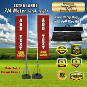 Giant Vertical Outdoor 22' Feet Full Kit Banner Advertising Exhibition Booth