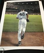 Mariano Rivera Signed Canvas Psa 10 Autograph Hof 19 Awesome Unanimous Must Have