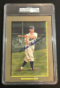 Charlie Gehringer Signed Perez Steele Great Moments Postcard Tigers Auto Psa/dna