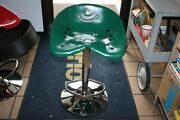 Lot Of 2 Green Steel Tractor Seat Bar Stools