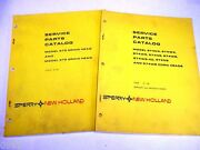 New Holland 970 And 972 Combine Grain Head And 4, 6, And 8 Row Corn Head Manuals