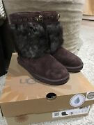 Ugg Vilet Suede Brown Toscana Cuff Bling Short Boots Size Us 5 Womens