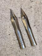 Lot Of 2 Vintage Perry And Co London England No. 834 Dip Pen Nibs