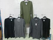 5 Big And Tall Men's Pullover Clothing V-neck Button Down Shirt Long Sleeve 3xlt